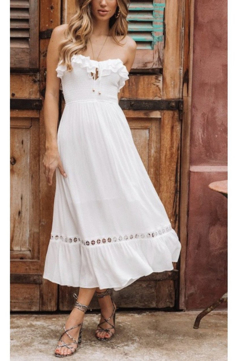 Forget Me Not Dress in Off White