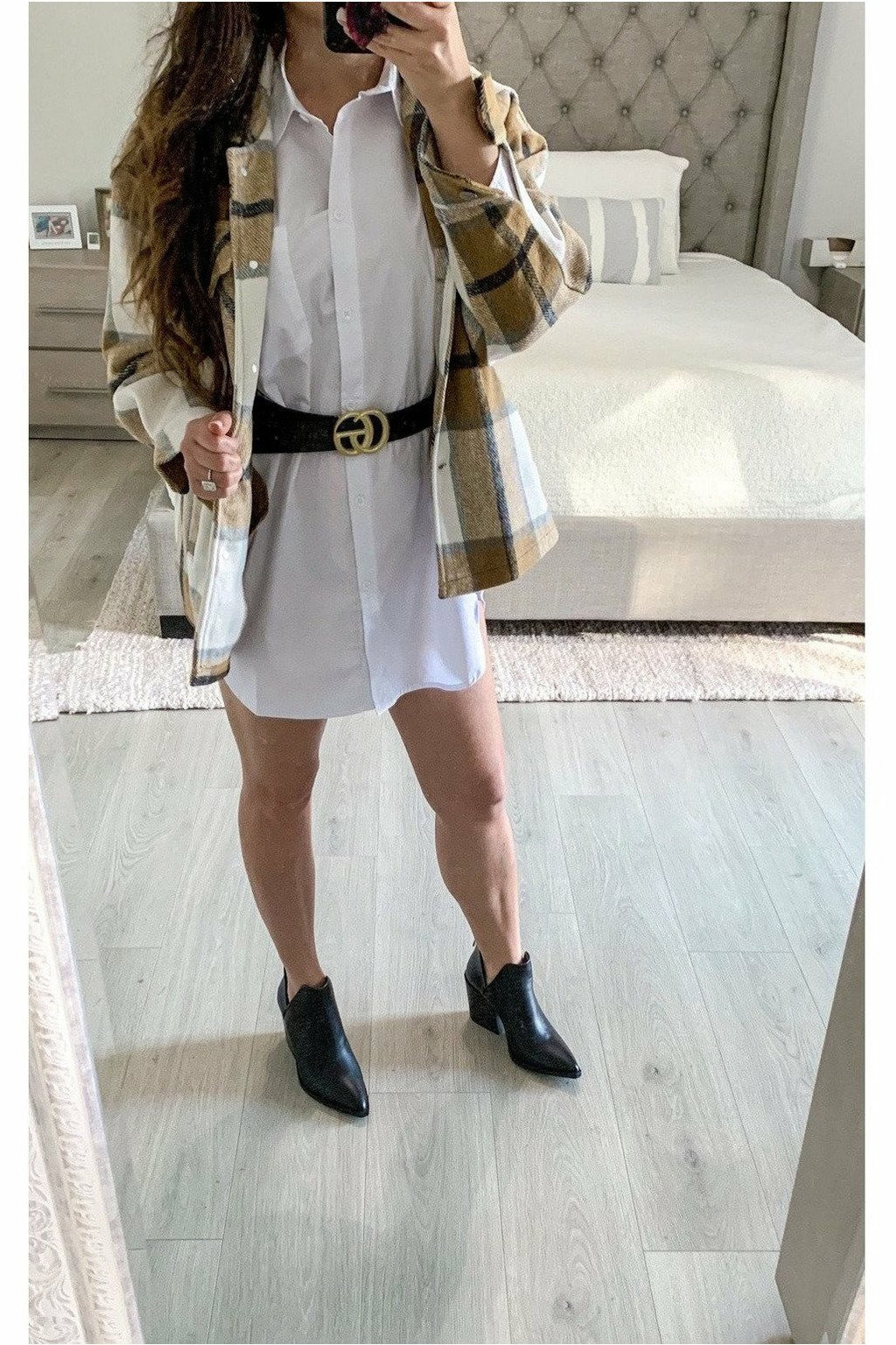 Tenley Shirt Dress $38