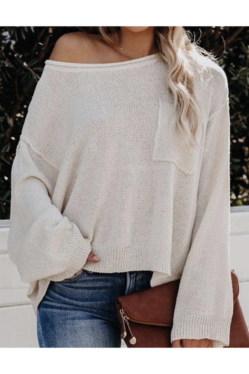 Weekend Cropped Top in Off White