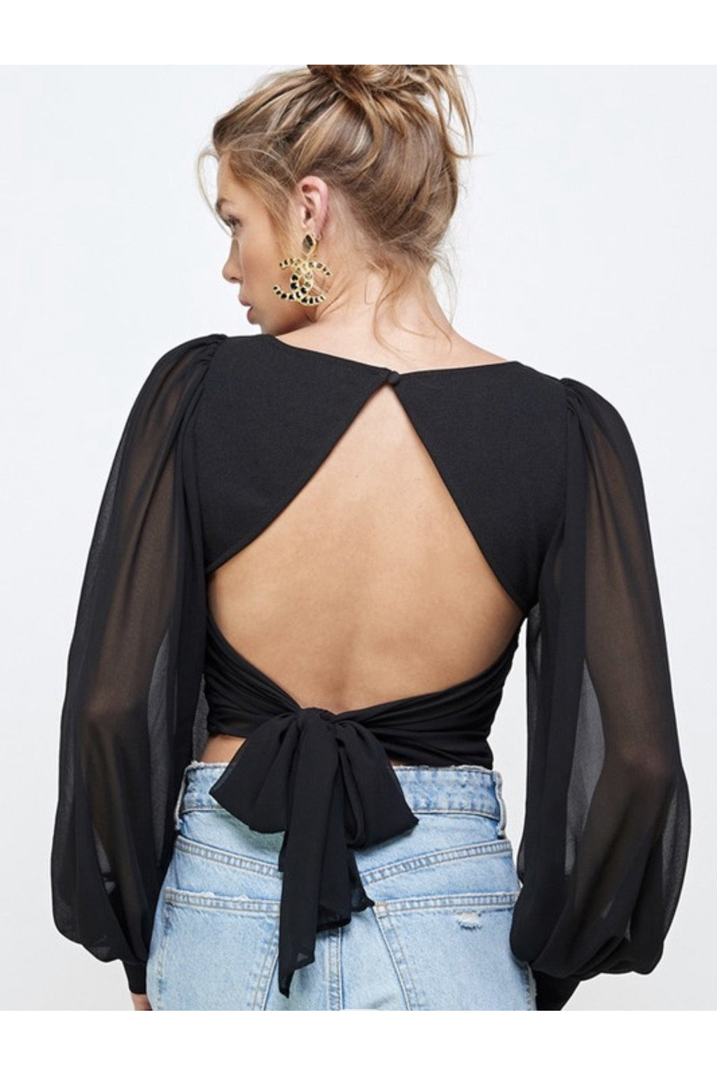 Alexa Open back Crop Top
