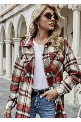 Carleigh Plaid Shirt $48
