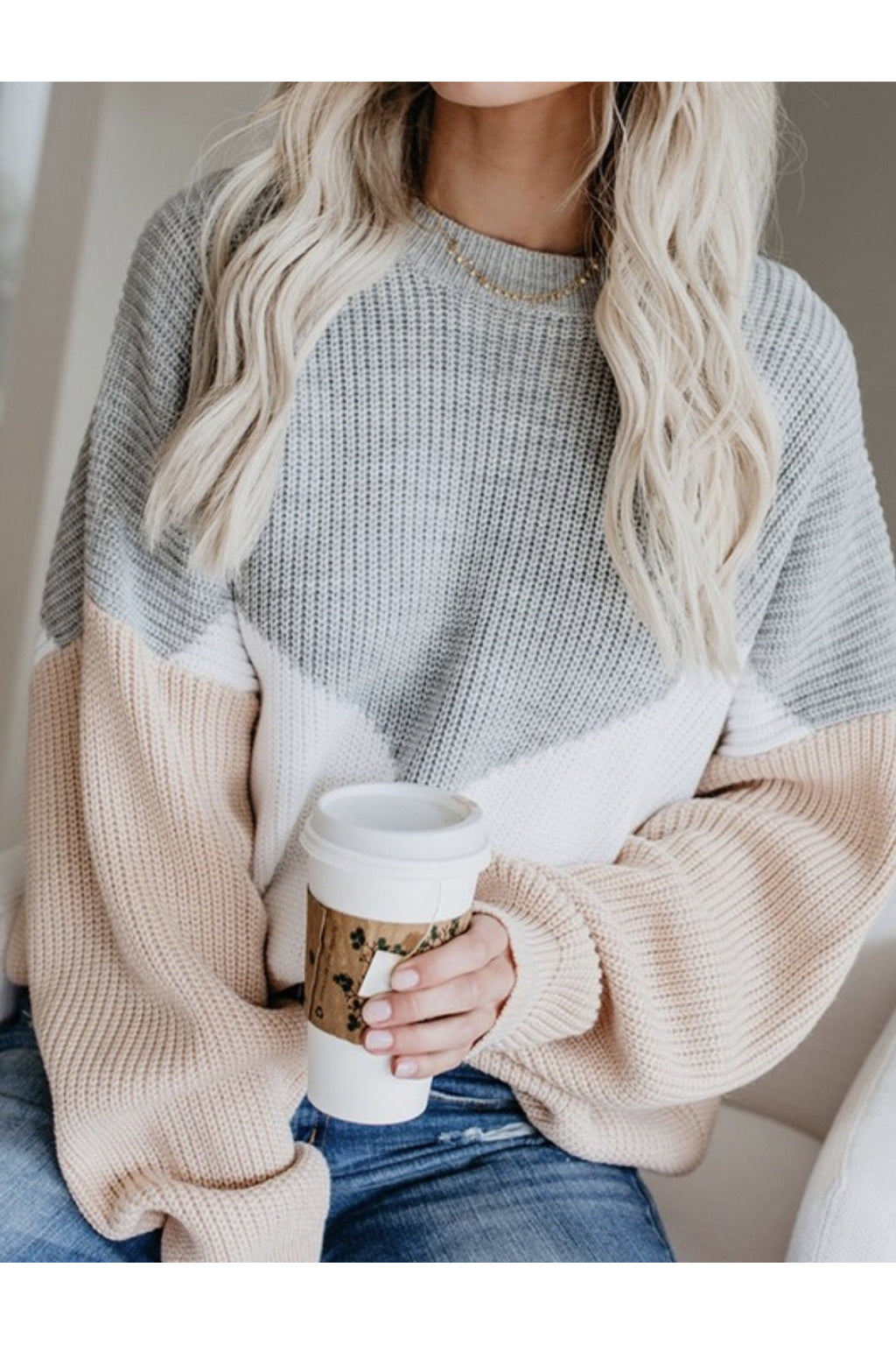 Cerys Striped Chunky Sweater