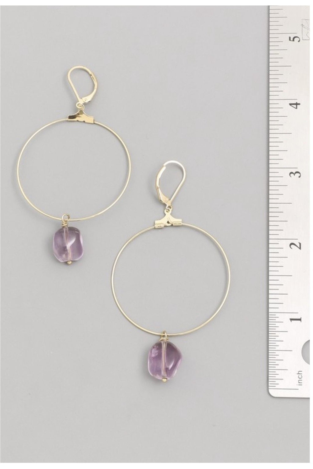 Amatista Hoop Earrings - Indigo Closet