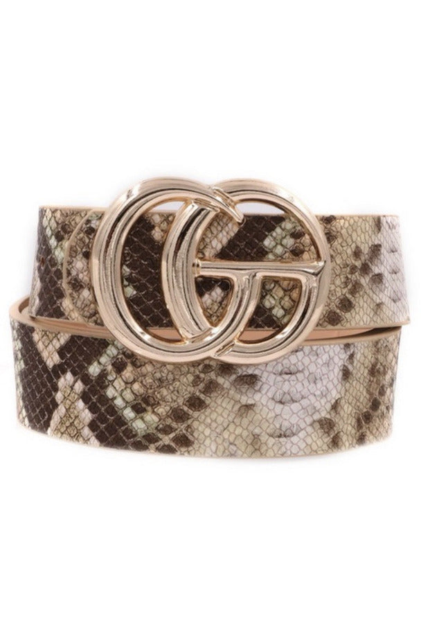 GG belt in Natural Snake