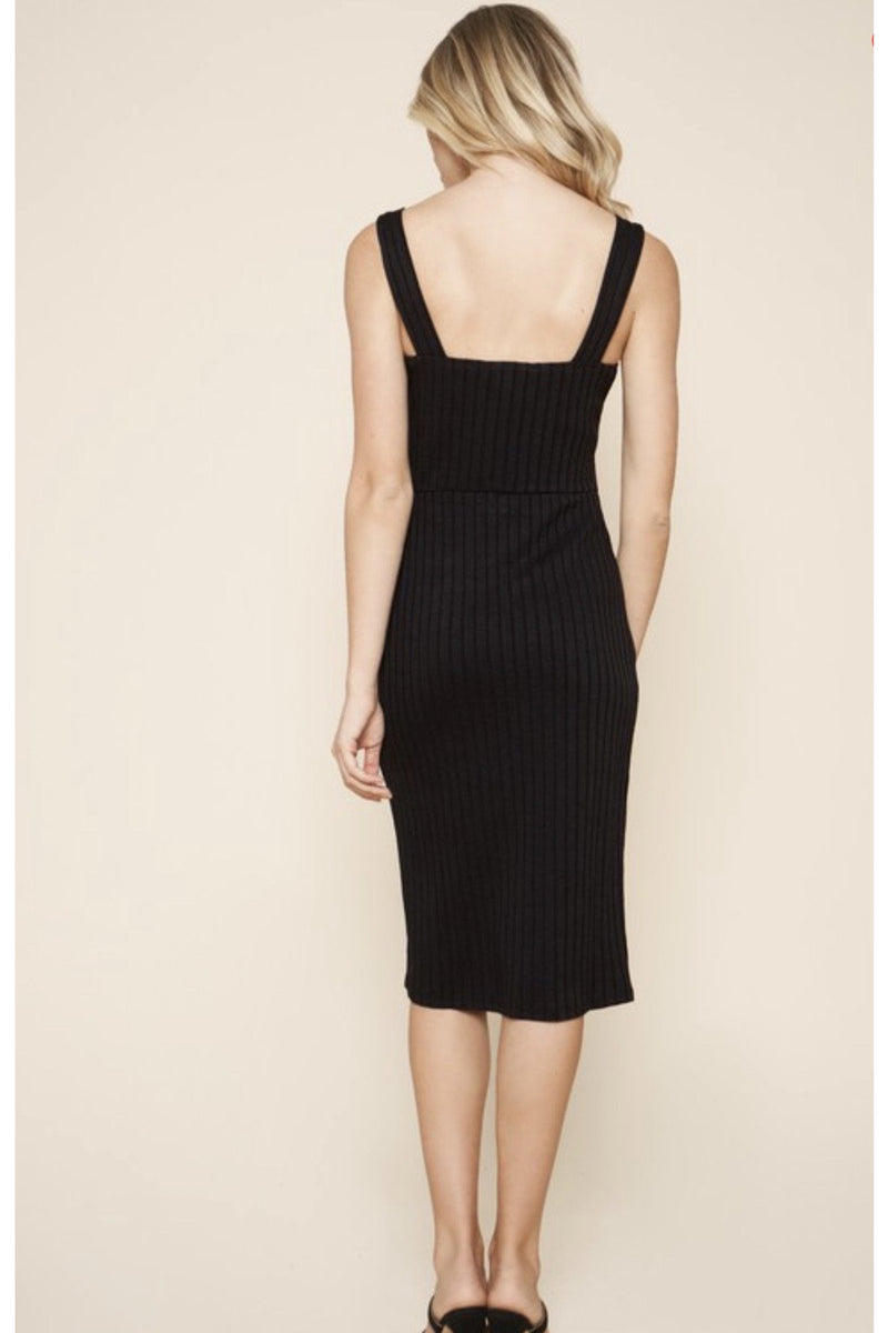 Aiko Ribbed Midi Dress $54