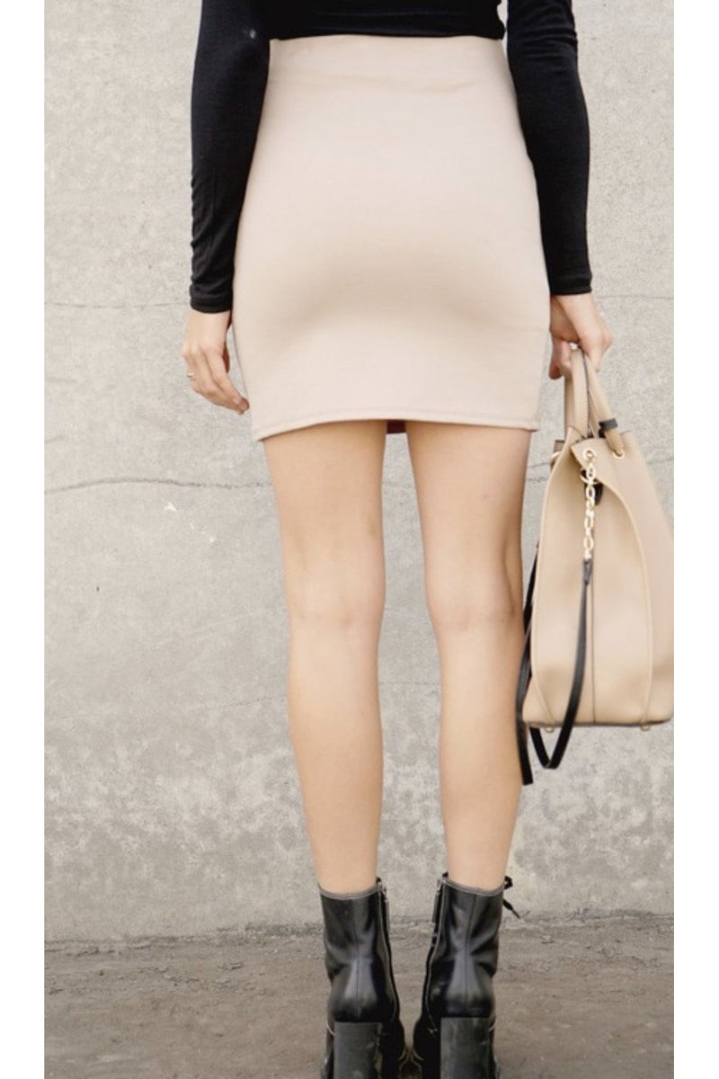 Mia Mini Skirt in Stone $34