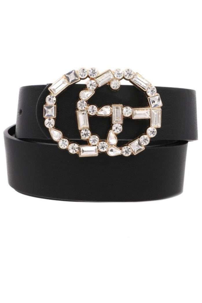 GG Belt in Black Jewels