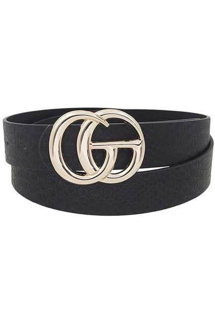 GG belt in Black/Gold 1 inch