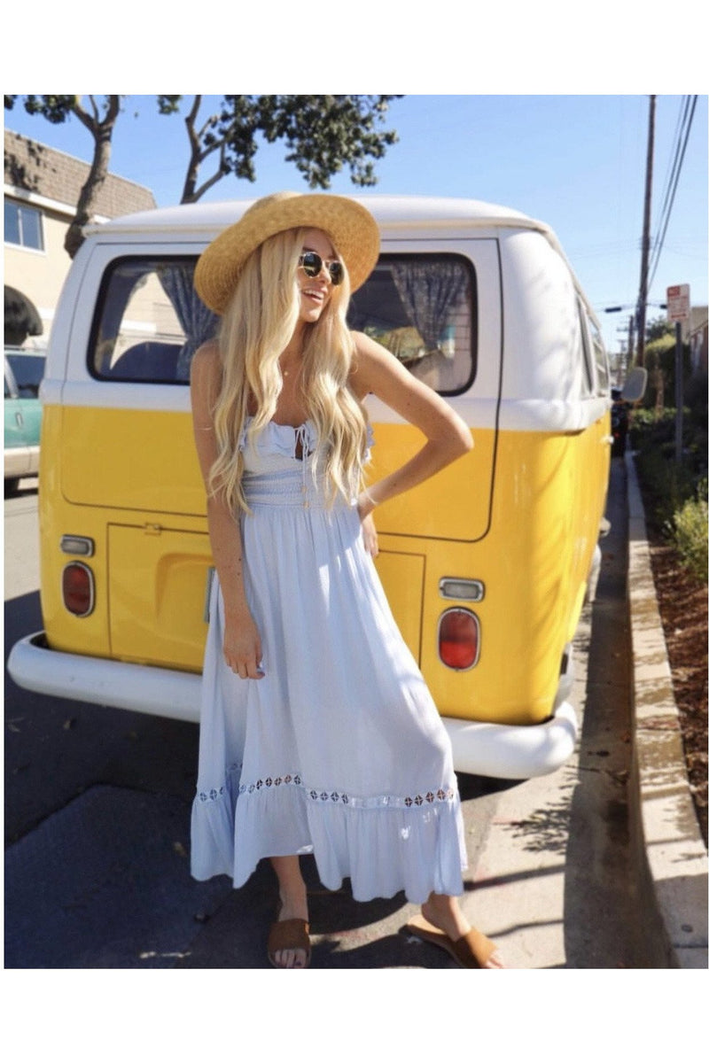 Forget Me Not Dress in Periwinkle