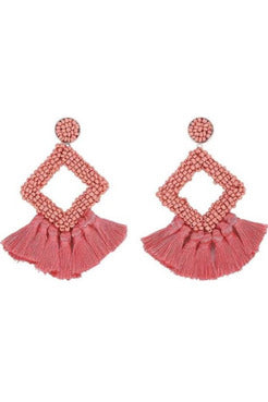 Fire Coral Earrings