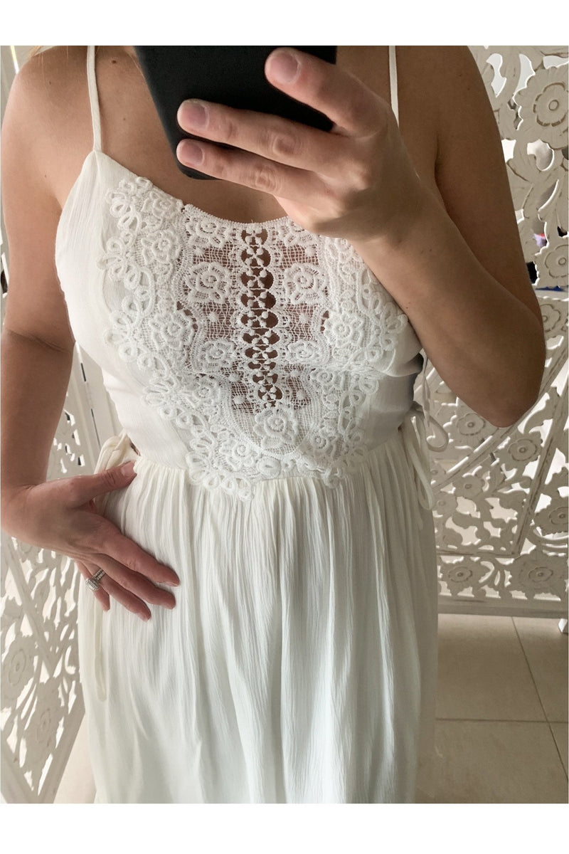 Crochet Santorini Midi Dress - Indigo Closet