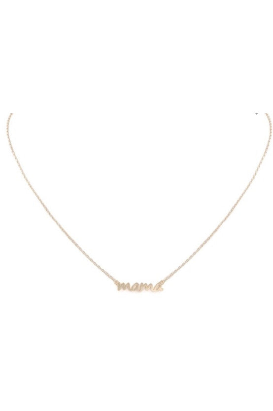 Script Mama Necklace $14