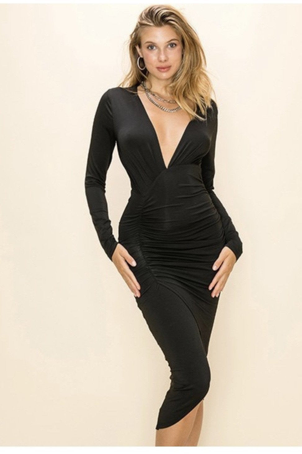 Soraya Plunging Neckline Dress