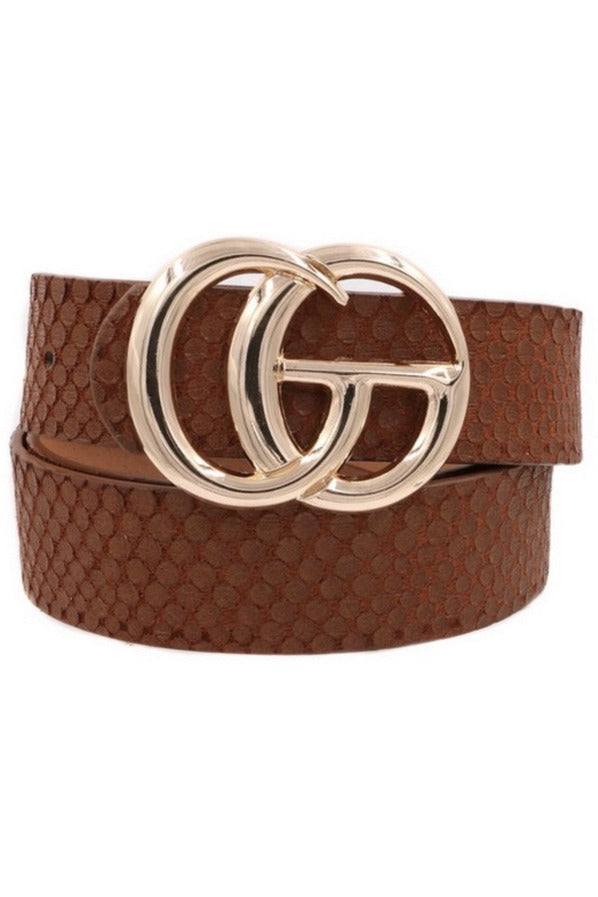 GG Belt in Brown snake