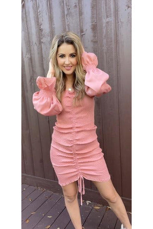 Amalia Sweetheart Dress in Pink