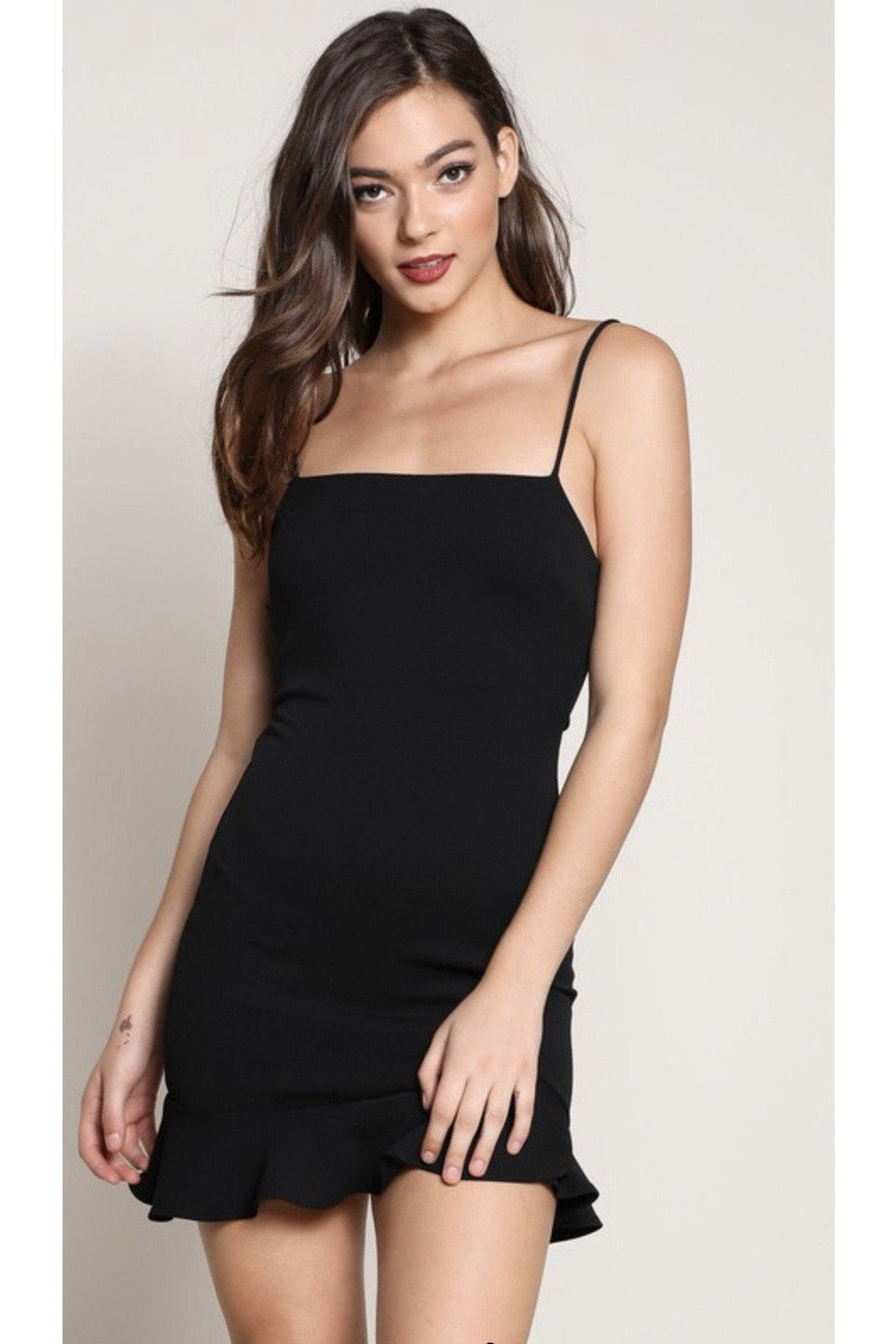 Carmen Mini Dress in Black
