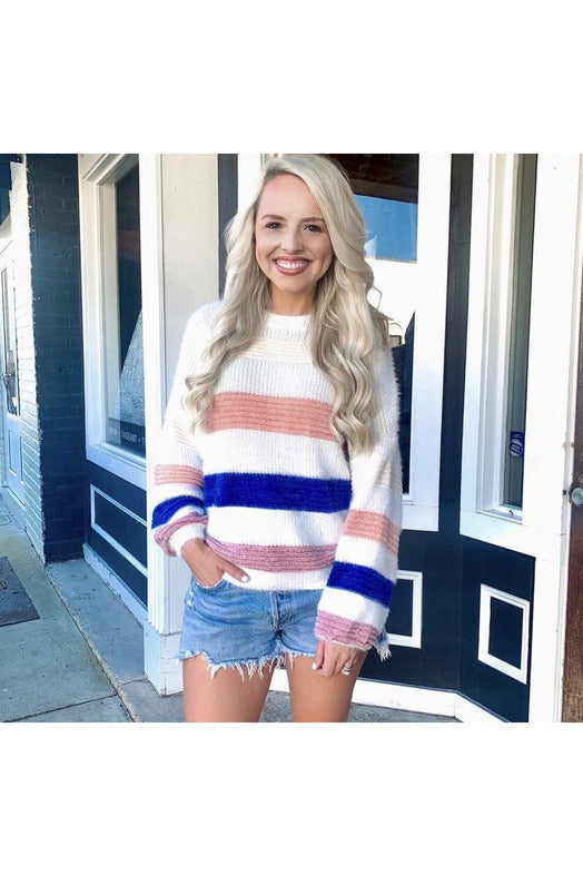 Chrissy Striped Sweater