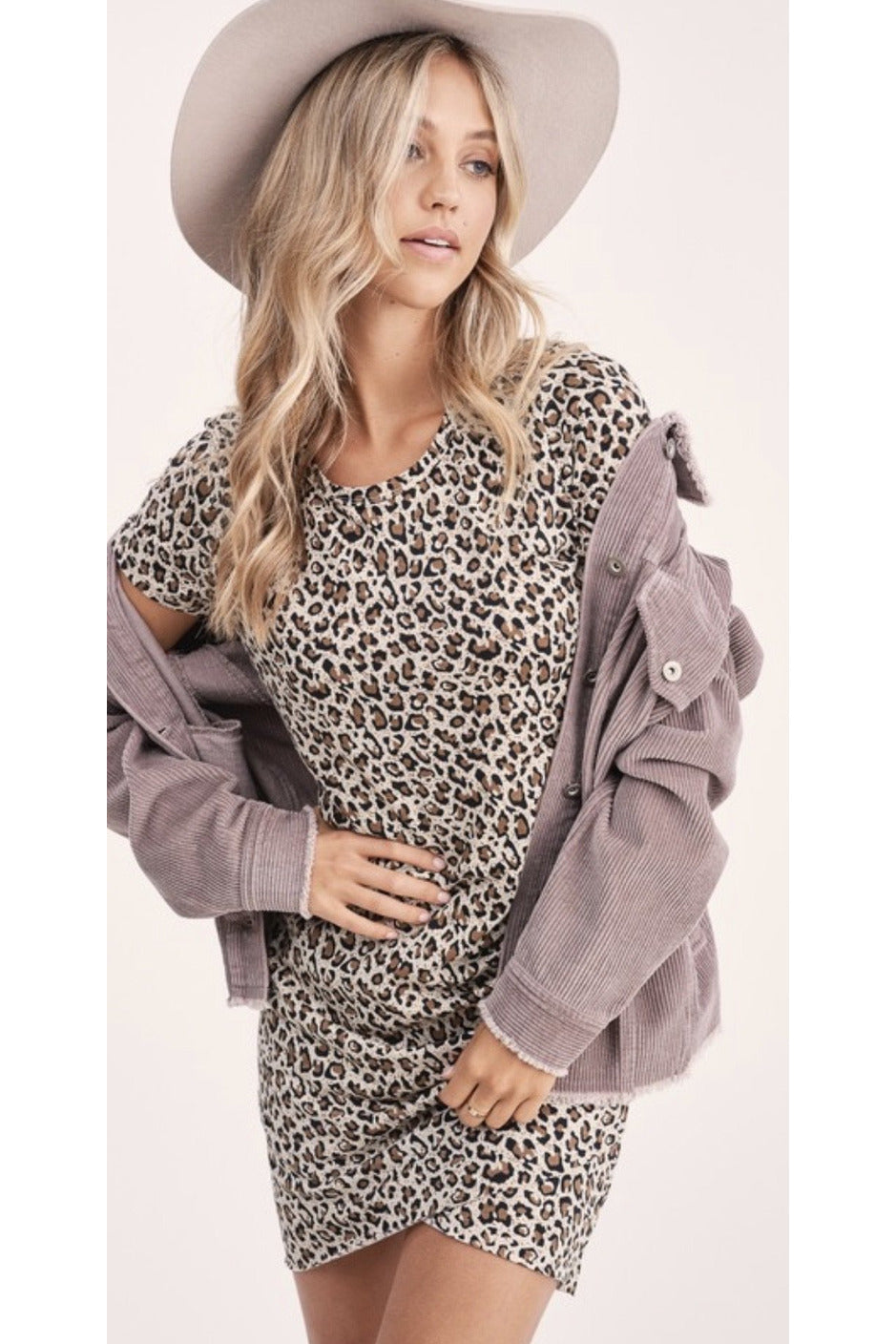 Nola Leopard T shirt Dress