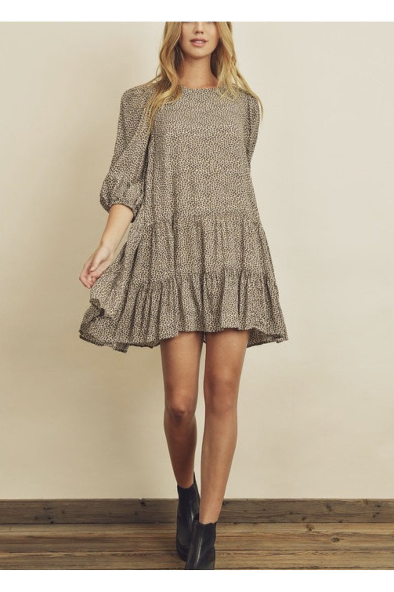 Dainty Bishop Sleeve Dress