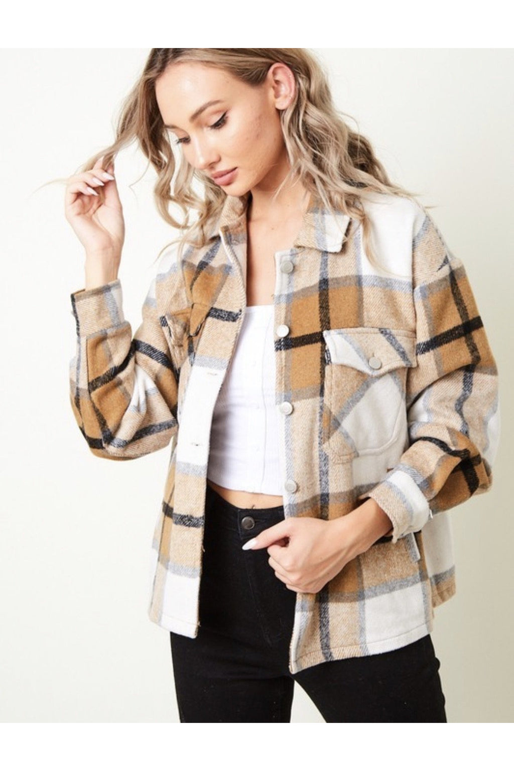 Sandi Plaid Shacket