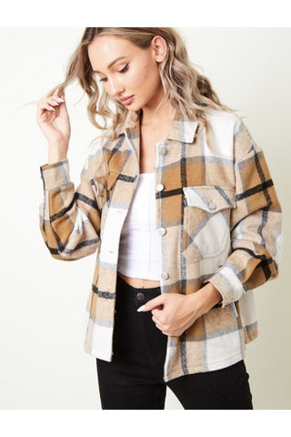 Chey Plaid Sherpa Shacket