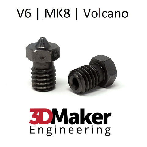 Hardened Steel PolyMAX™ Coated 3D Printer Nozzle