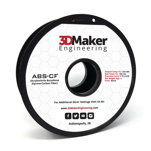 Carbon Fiber ABS Pro Series 3D Printer Filament 1.75mm
