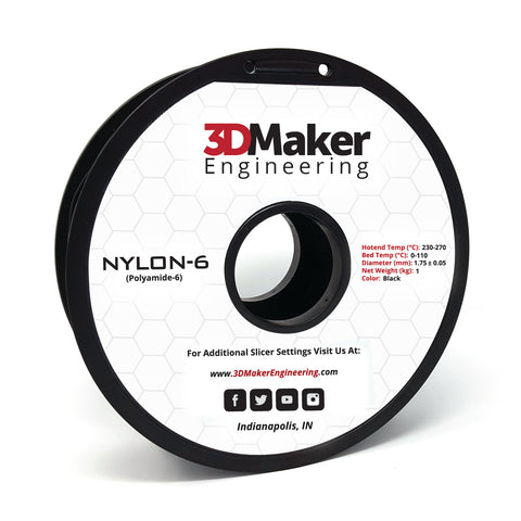 Nylon-6 Pro Series 3D Printer Filament 1.75mm