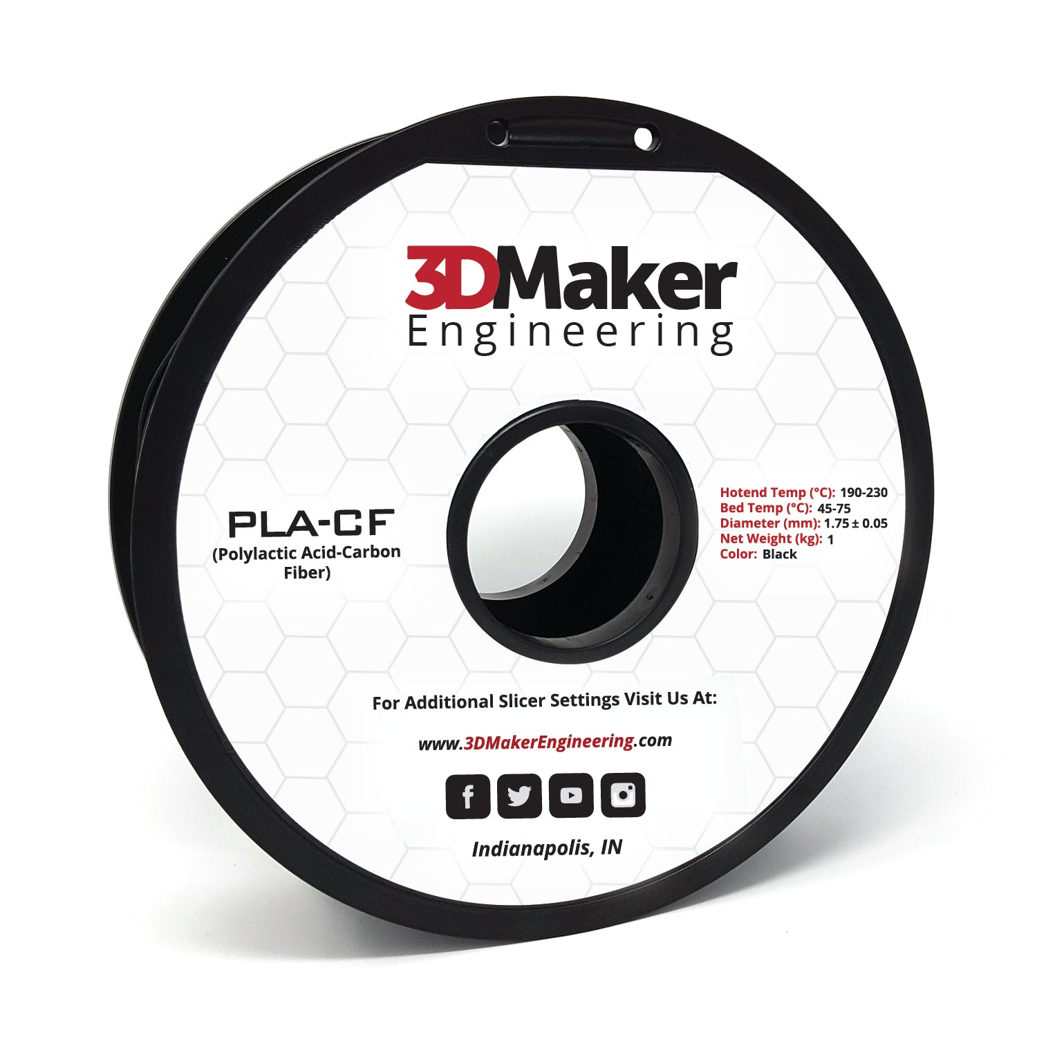 Carbon Fiber PLA Pro Series 3D Printer Filament 1.75mm