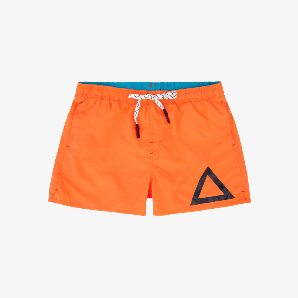 Swim Pant Solid Big Logo / Arancione