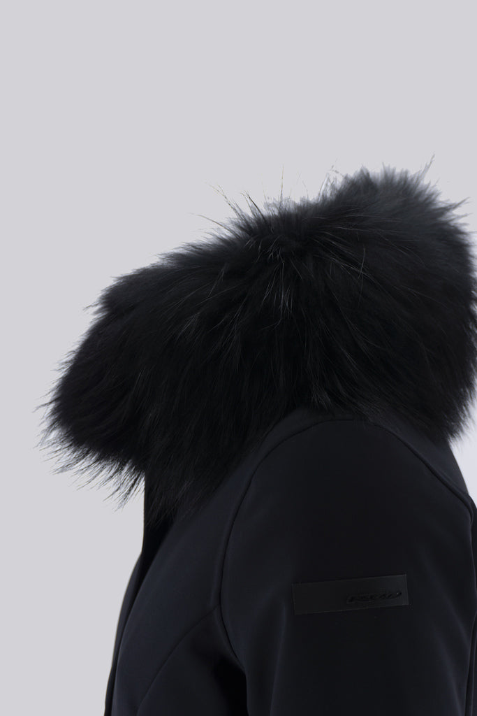 Winter Trench Lady Fur / Nero
