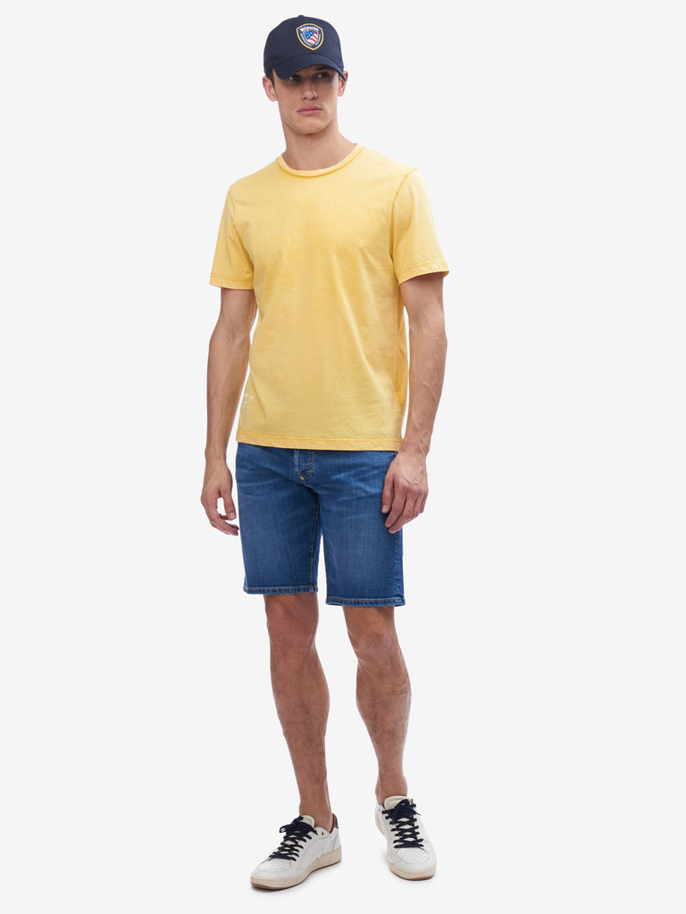T-Shirt sfumata / Giallo - Ideal Moda