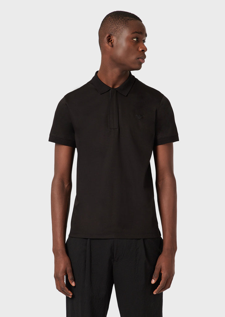 Polo shirt / Nero - Ideal Moda