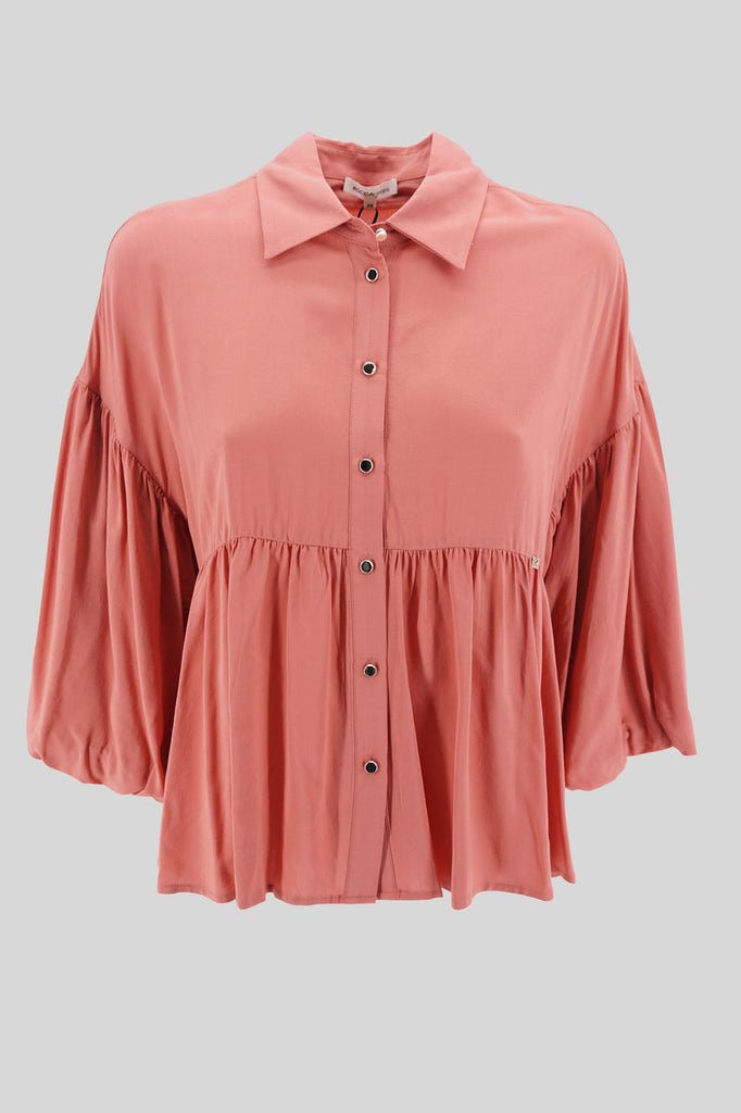 Camicia morbida in viscosa / Rosa