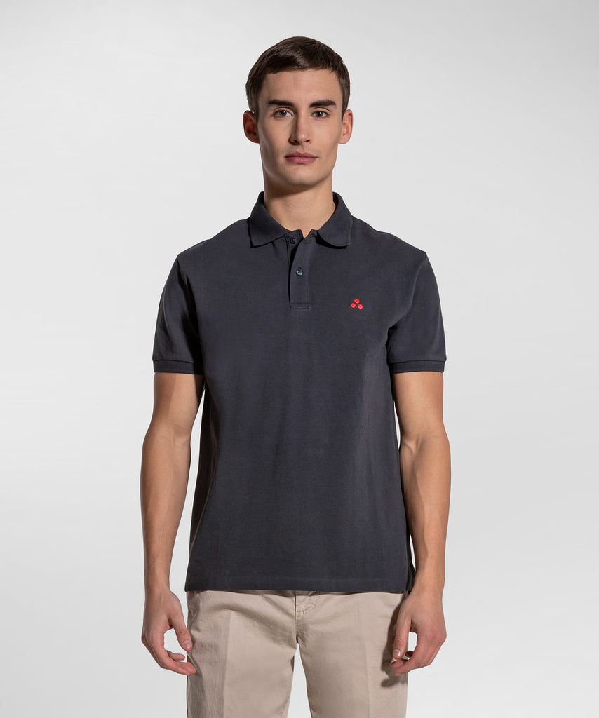 Polo in Piquet di Cotone / Blu