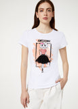 T-Shirt Con Stampa / Bianco - Ideal Moda