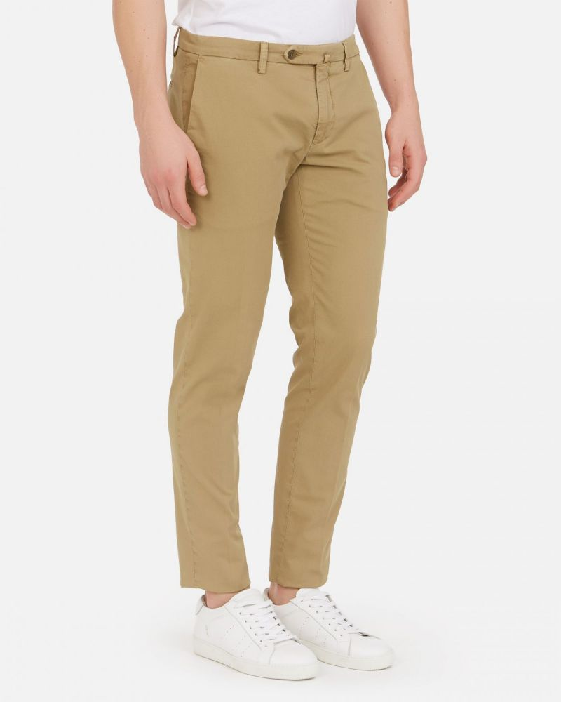 Pantalone chino in cotone / Beige - Ideal Moda