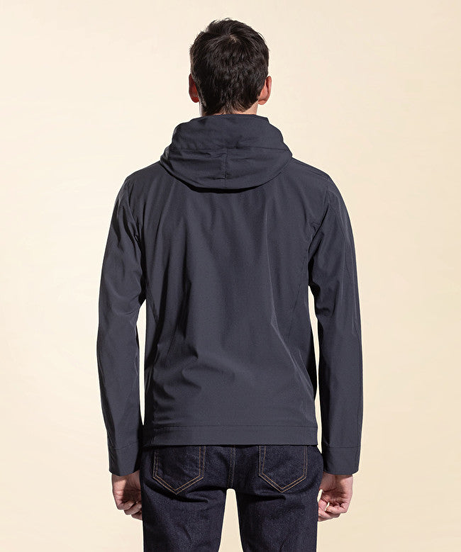 Utility jacket anti-vento / Blu - Ideal Moda