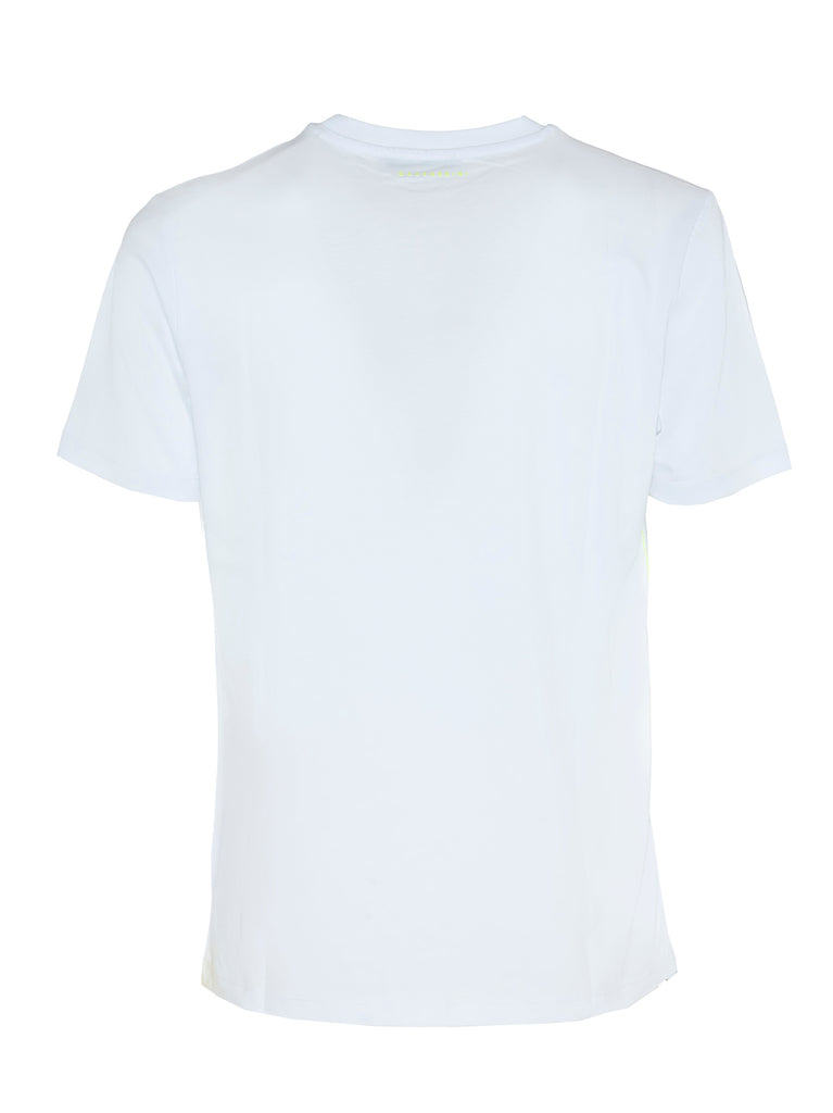 T-shirt bianca in cotone con stampa / Bianco - Ideal Moda