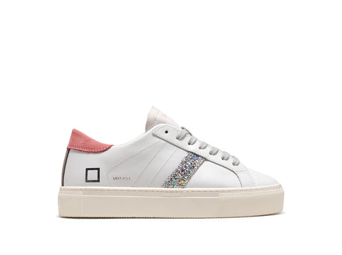 Sneaker bassa in pelle vertigo calf / Bianco - Ideal Moda