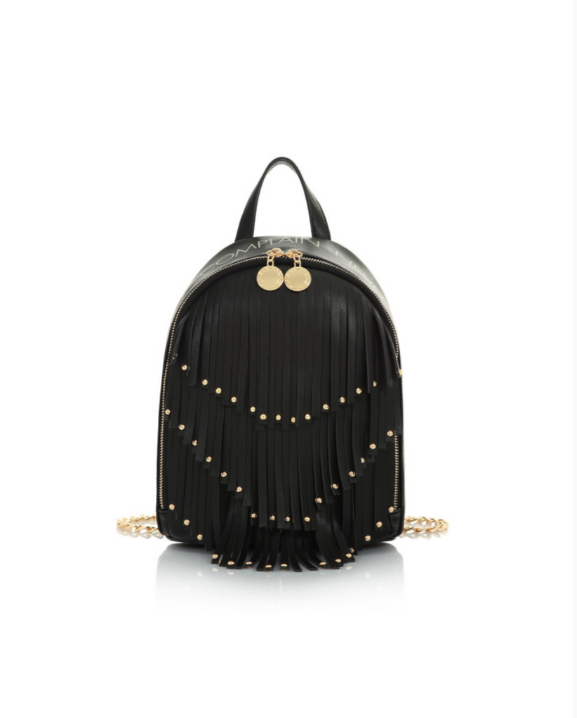 Vicky Backpack Fringe NEVER Black / Nero