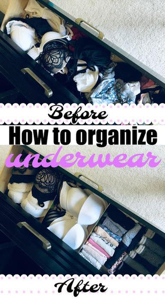 How to organize underwear - the Marie Kondo way!