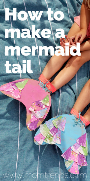 For all those mermaids at heart, here's how to make a mermaid tail using household items