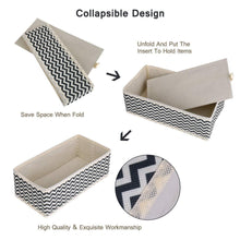 Load image into Gallery viewer, Best dresser drawer organizer 8 pcs foldable storage box fabric closet storage cubes clothes storage bins drawer dividers storage baskets for bras socks underwear accessories home office bedroom
