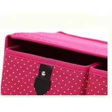 Load image into Gallery viewer, Latest diffstyle cute bowknot dot printing non woven thickening three layer five drawer foldable collapsible classified storage box container organizer for underwear socks and any accessories pink