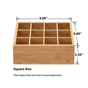 Explore gobam tie and belt organizer box closet underwear storage box drawer divider for bras briefs socks and mens accessories compartments of 12 natural bamboo