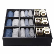Load image into Gallery viewer, Select nice luxury and stylish acrylic organizer fine and elegant gift keep belts socks ties underwear panties briefs boxers scarves organized drawer divider closet and storage box
