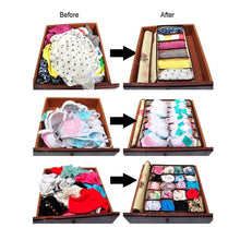Load image into Gallery viewer, Top kaimao foldable storage boxes drawer dividers closet organisers under bed organiser for underwear bra socks tie scarves with lid blue
