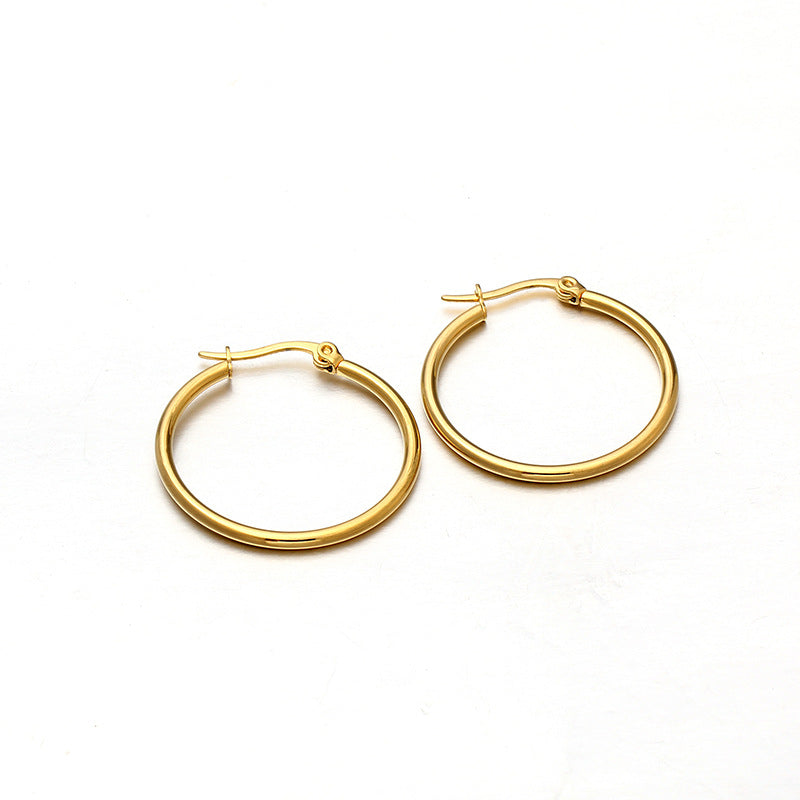 3Pairs Simple Design Hoop Earrings