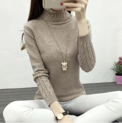 Turtleneck Pullover Sweater for Womens